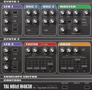 סינטיסייזר להורדה חינם - TAL Noisemaker